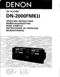 Manual del usuario Denon DN-2000FMK II