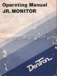 Manual del usuario Dentron JR. Monitor