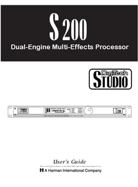 Manual del usuario Digitech S200