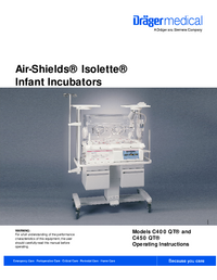 Руководство пользователя Dräger Isolette C450 QT