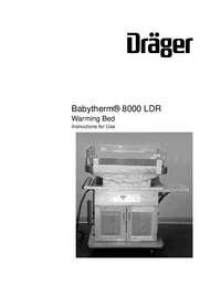 User Manual Dräger Babytherm® 8000 LDR