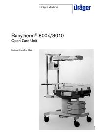 User Manual Dräger Babytherm® 8010