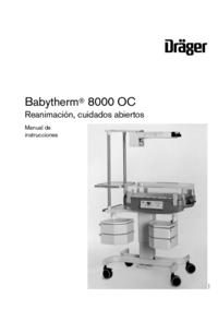 User Manual Dräger Babytherm 8000 OC