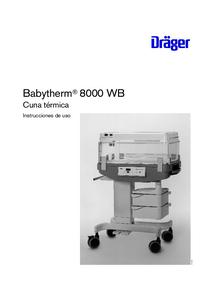 Gebruikershandleiding Dräger Babytherm 8000 WB
