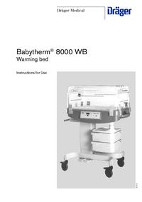Manual del usuario Dräger Babytherm® 8000 WB