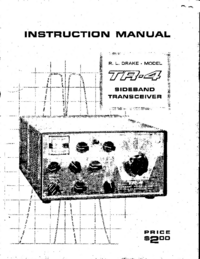 Servizio e manuale utente Drake TR-4