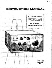 Service and User Manual Drake TR-4