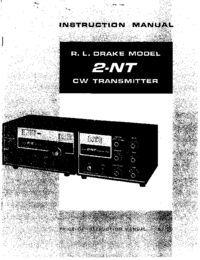 Servicio y Manual del usuario Drake 2-NT
