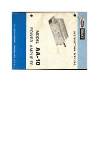 Service- und Bedienungsanleitung Drake AA-10