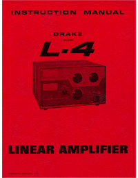 Servicio y Manual del usuario Drake L-4