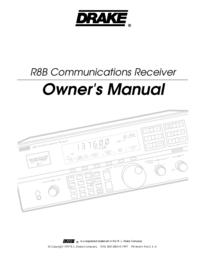 Gebruikershandleiding Drake R8B