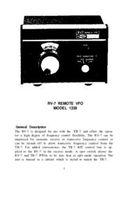 Serviço e Manual do Usuário Drake RV-7 MODEL 1338