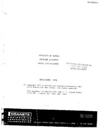 Serviço e Manual do Usuário Dranetz 305-PA-3009