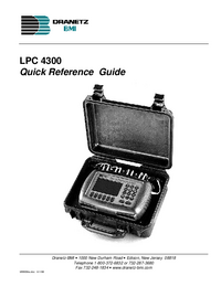 Manual del usuario Dranetz LPC 4300