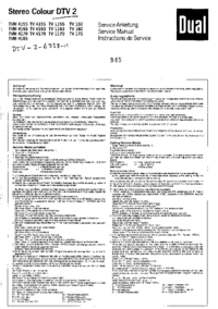 Instrukcja serwisowa Dual TV 4163