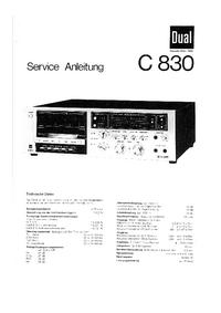 Руководство по техническому обслуживанию Dual C 830