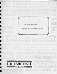 Service and User Manual Dumont 304A