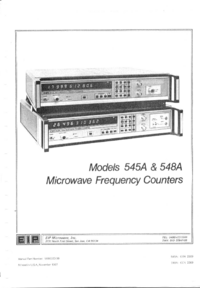 Service and User Manual EIP 548A