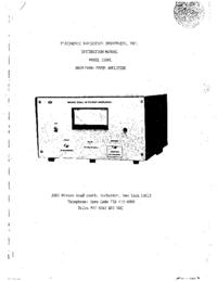 Обслуживание и Руководство пользователя ENI 2100L