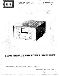 Manuale d'uso ENI 3100L