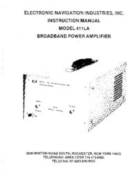 Serviço e Manual do Usuário ENI 411LA