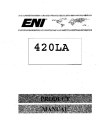 Service and User Manual ENI 420LA