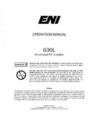 Gebruikershandleiding ENI 630L
