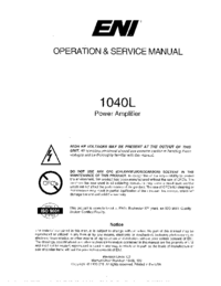 Service and User Manual ENI 1040L