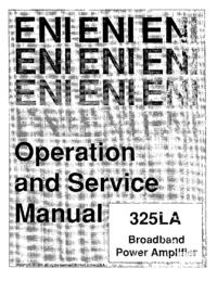 Service et Manuel de l'utilisateur ENI 325LA