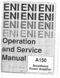 Service et Manuel de l'utilisateur ENI A150