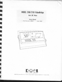 Servicio y Manual del usuario ESI 2100