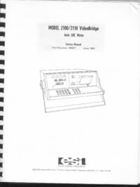 Serviço e Manual do Usuário ESI 2100
