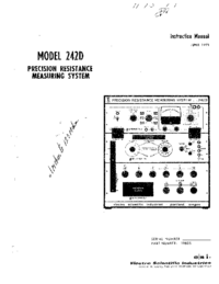 Service and User Manual ESI 242D