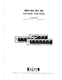 User Manual ESI DB52