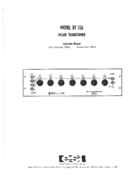 Manuale d'uso ESI DT 72A