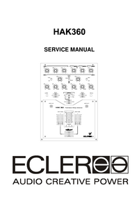 Servicehandboek Ecler HAK360