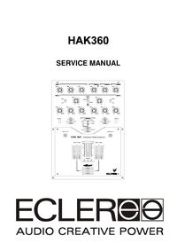 Manuale di servizio Ecler HAK360