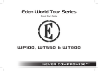User Manual Eden WT550