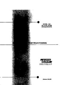 Servizio e manuale utente Eico 460