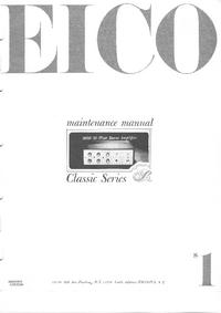 Service Manual Eico 2050