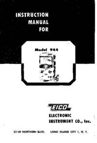 Service and User Manual Eico 944