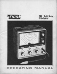 Обслуживание и Руководство пользователя Eico 242