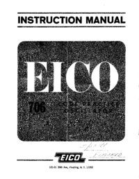 Servicio y Manual del usuario Eico 706