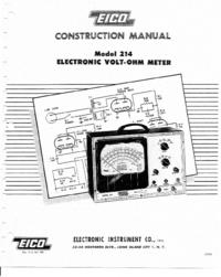 Обслуживание и Руководство пользователя Eico 214