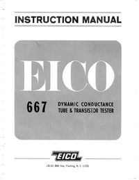 Service and User Manual Eico 667