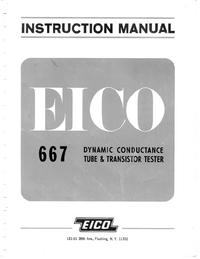 Обслуживание и Руководство пользователя Eico 667