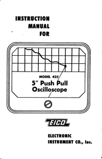 Service and User Manual Eico 425
