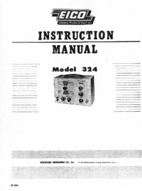 Service and User Manual Eico 324
