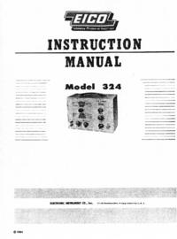 Service et Manuel de l'utilisateur Eico 324