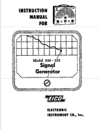 Servicio y Manual del usuario Eico 320